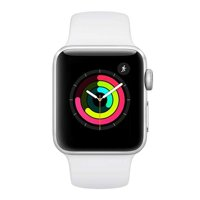 iBite Nitra - Apple Watch Series 3 GPS, 38mm Silver Aluminium Case with White Sport Band G1
