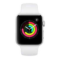 iBite Nitra - Apple Watch Series 3 GPS, 42mm Silver Aluminium Case with White Sport Band G1