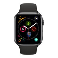 iBite Nitra - Apple Watch Series 4 GPS, 44mm Space Grey Aluminium Case with Black Sport Band G1