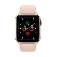Apple Watch Series 5 GPS, 40mm Gold Aluminium Case with Pink Sand Sport Band - iBite Nitra G1