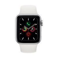 Apple Watch Series 5 GPS, 40mm Silver Aluminium Case with White Sport Band - iBite Nitra G1