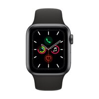 Apple Watch Series 5 GPS, 40mm Space Grey Aluminium Case with Black Sport Band - iBite Nitra G1