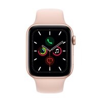 Apple Watch Series 5 GPS, 44mm Gold Aluminium Case with Pink Sand Sport Band - iBite Nitra G1