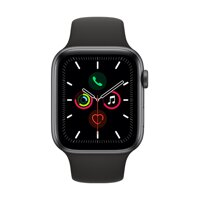 Apple Watch Series 5 GPS, 44mm Space Grey Aluminium Case with Black Sport Band - iBite Nitra G1