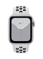 Apple Watch Nike Series 5 GPS, 40mm Silver Aluminium Case with Pure Platinum/Black Nike Sport Band - iBite Nitra G1