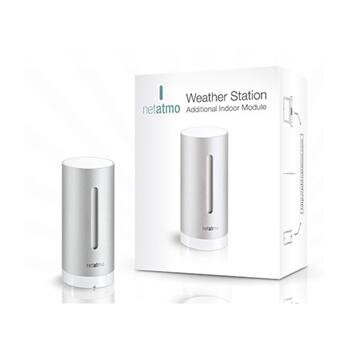 Netatmo Urban Weather Station Additional Indoor Module prídavný interiérový modul meteostanice pre iPhone/iPad/iPod Touch - Silver