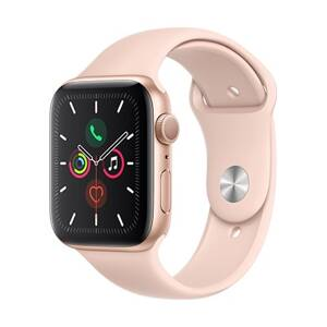Apple Watch Series 5 GPS, 44mm Gold Aluminium Case with Pink Sand Sport Band
