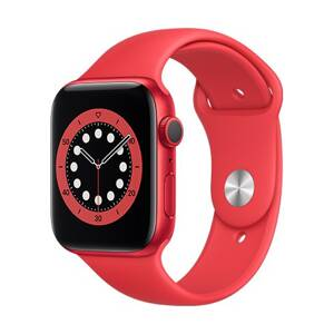 Apple Watch Series 6 GPS, 44mm (PRODUCT)RED Aluminium Case with (PRODUCT)RED Sport Band - Regular