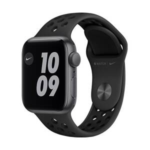 Apple Watch Nike SE GPS, 40mm Space Gray Aluminium Case with Anthracite/Black Nike Sport Band - Regular